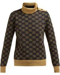 Gucci GG-jacquard Wool-blend Jumper - Black