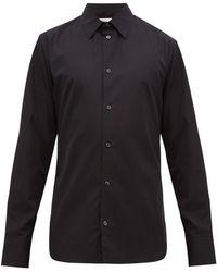 The Row Jasper コットンポプリンシャツ - ブラック