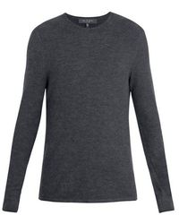 Rag & Bone - Giles Crew-neck Ribbed-knit Wool Sweater - Lyst