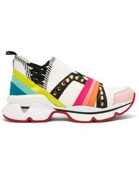 Christian Louboutin - 123 Run Studded Low Top Trainers - Lyst