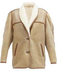 Étoile Isabel Marant Anawa Shearling Jacket - Multicolour