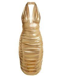 Norma Kamali - Halterneck Plunge Dress - Lyst