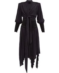 Proenza Schouler ハンカチーフヘム クレープドレス - ブラック