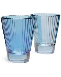 Luisa Beccaria Set Of Two Isis Wine Glasses - Blue