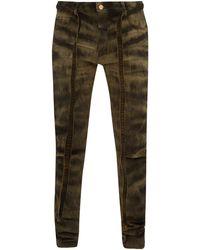 Fear Of God Zebra-print Slim Fit Denim Jeans - Multicolour