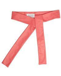 Maison Margiela - Self-tie Leather Belt - Lyst