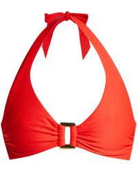 Heidi Klein Santa Monica Bikini Top - Red