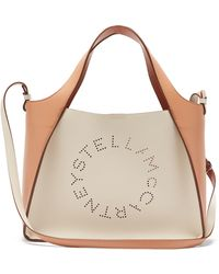 Stella McCartney - ステラ ラージ バイカラー フェイクレザーバッグ - Lyst