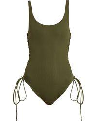 Melissa Odabash - Cuba Lace Side Scoop Neck Swimsuit - Lyst