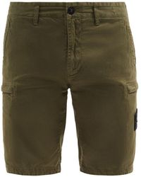 Stone Island - Logo-patch Cotton-blend Cargo Shorts - Lyst