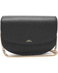A.P.C. Geneve Grained Leather Cross Body Bag - Black