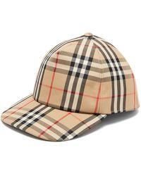 Burberry Vintage Check Logo-appliqué Baseball Cap - Natural