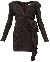 Givenchy リボンディテール プリーツ ミニドレス - ブラック