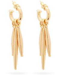 Tohum Maia 24kt Gold-plated Hoop Earrings - Metallic