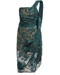 Vivienne Westwood Asymmetric Floral-lace Bustier Midi Dress - Green