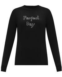 Bella Freud メリノウールセーター - ブラック