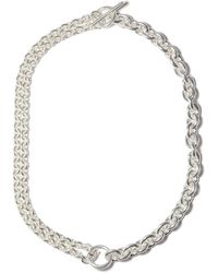 All_blues Double Sterling-silver Necklace - Metallic