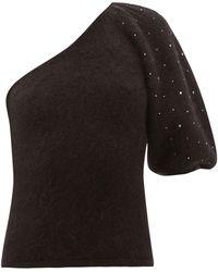 JoosTricot Swarovski One Sleeve Top - Black