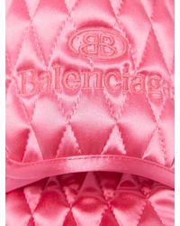 Balenciaga ホーム キルティングサテンサンダル - ピンク