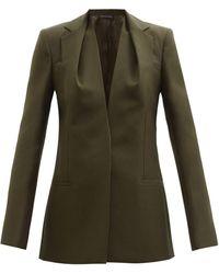 Givenchy ウールグレインドプードル シングルスーツジャケット - グリーン