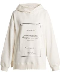MM6 by Maison Martin Margiela - Oversized Printed Hooded Sweatshirt - Lyst