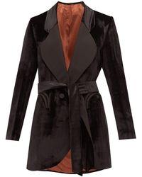 Blazé Milano Etoile Silk-lapel Herringbone-velvet Jacket - Black