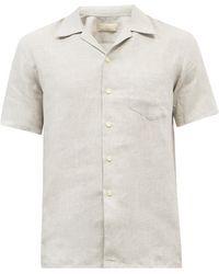120% Lino 120% Lino キューバンカラー リネンシャツ - マルチカラー