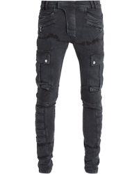 Balmain - Mid-rise Skinny Biker Jeans - Lyst
