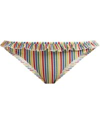 Solid & Striped - The Milly Striped Seersucker Bikini Briefs - Lyst