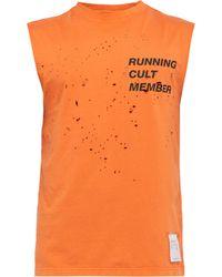 Satisfy Débardeur en coton troué Cult - Orange
