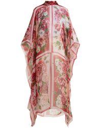 Dolce & Gabbana - Floral-print Silk Kaftan - Lyst