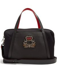 Christian Louboutin - Bagdamon Leather-trim Canvas Holdall - Lyst