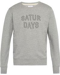 Saturdays NYC - Bowery Logo Print Cotton Sweatshirt - Lyst