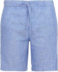 Frescobol Carioca - Linen Blend Shorts - Lyst