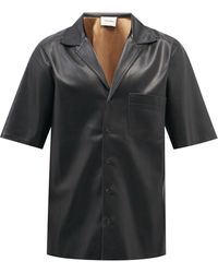 Nanushka オスモ フェイクレザーシャツ - ブラック