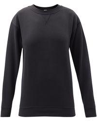lululemon athletica All Yours Crew-neck Cotton-blend Jersey Sweatshirt - Black