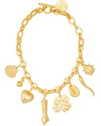 Rebecca de Ravenel - All My Lucky Stars Gold-plated Charm Necklace - Lyst