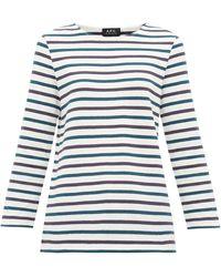 A.P.C. Catarina Breton-striped Cotton Top - Multicolour