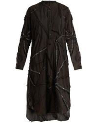 By Walid - Contrast-stitch Cotton Dress - Lyst