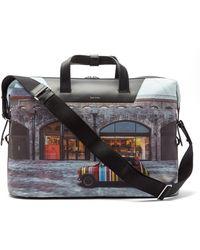 Paul Smith Mini-print Leather Holdall - Multicolour