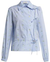 Altuzarra Terese フローラルシャツ - ブルー