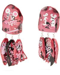 Claire Barrow - Mouse Face Triple Drop Clip On Earrings - Lyst