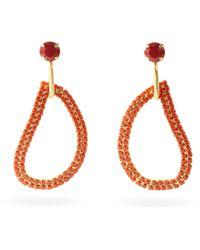 Zeus+Dione X Ileana Makri Lachouri Crystal Drop Earrings - Orange