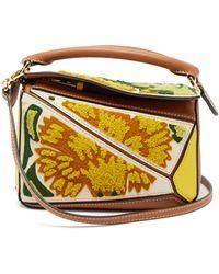 Loewe Puzzle Floral Mini Satchel Bag - Multicolour