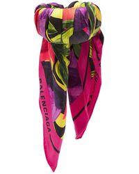 Balenciaga Silk-twill Floral-print Scarf Cuff - Multicolour