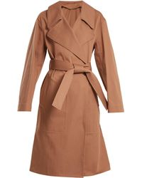 Lemaire - Oversized Cotton Twill Trench Coat - Lyst