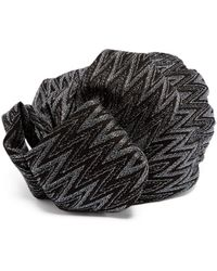 Missoni - Zigzag Metallic Crochet Knit Turban Hat - Lyst