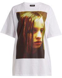 Raf Simons - Christiane F. Photographic Print T Shirt - Lyst