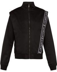 Givenchy Logo Jacquard Zip Through Track Top - Black