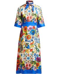 Dolce & Gabbana - Short-sleeve Printed Dress - Lyst